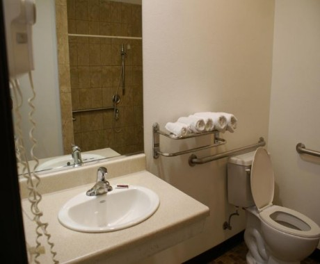 Private Bathroom With Roll-Inn Shower And Stability Rails